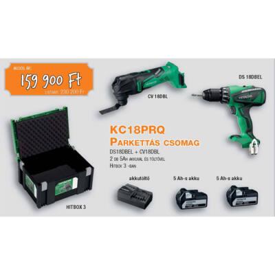 HITACHI Parkettás csomag+Ajándék Fúrószárkészlet KC18PRQ