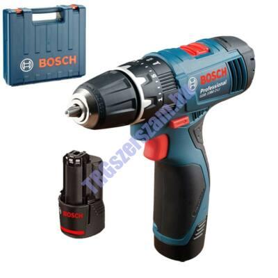 Bosch GSB 1080-2-LI; 2 x 1.5 Ah akkus fúrócsavarozó 06019F3000