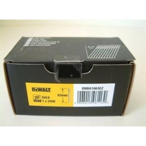 DEWALT DNBA1663GZ fej nélküli galvanizált szeg 63mm 16GA 2500DB