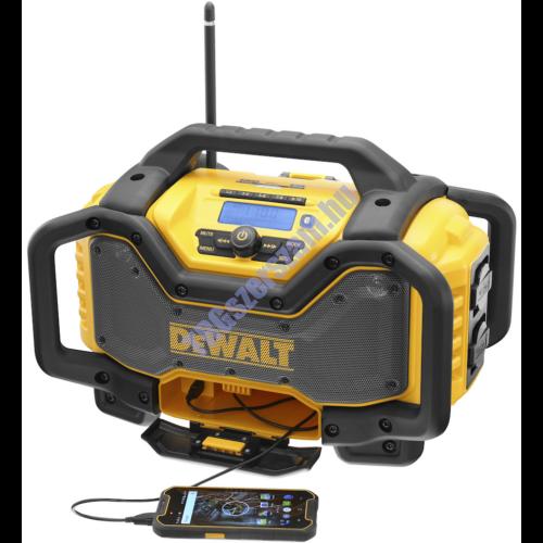 DeWalt 18V XR bluetooth-os rádió és töltő DCR027-QW