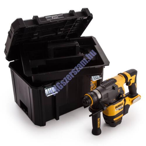 DEWALT SDS-Plus 54V XR FLEXVOLT kefe nélküli 3 üzemmódú fúrókalapács akku és töltő nélkül Tstak kofferben DCH333NT-XJ; 3,5J