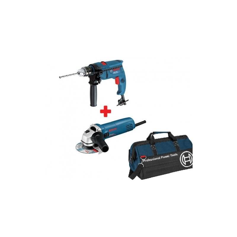 Bosch GWS 850 CE sarokcsiszoló + GSB 1300 fúró + promóciós táska  0615990H45