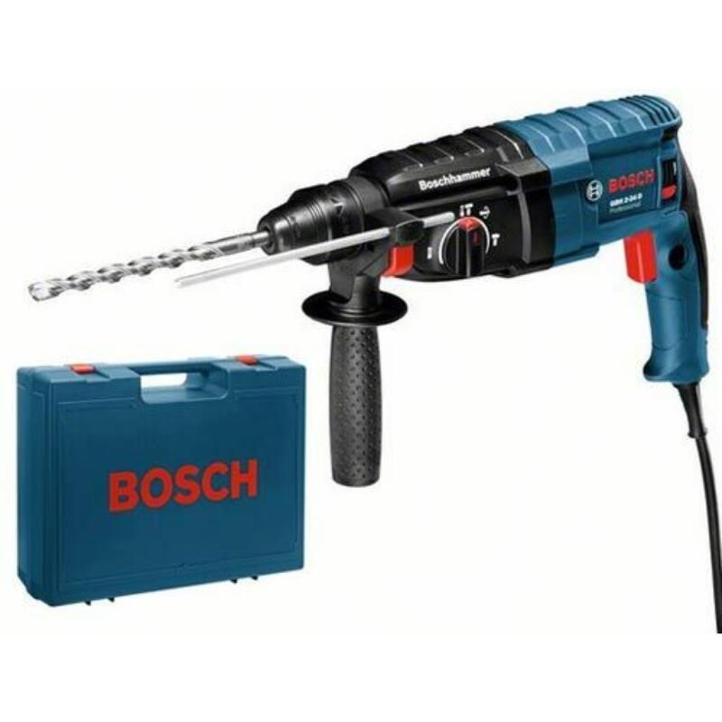 """Bosch GBH 2-20 D fúrókalapács + 5 részes """"Plus 5"""" fúrófej készlet+koffer 0 611 25A 400"""