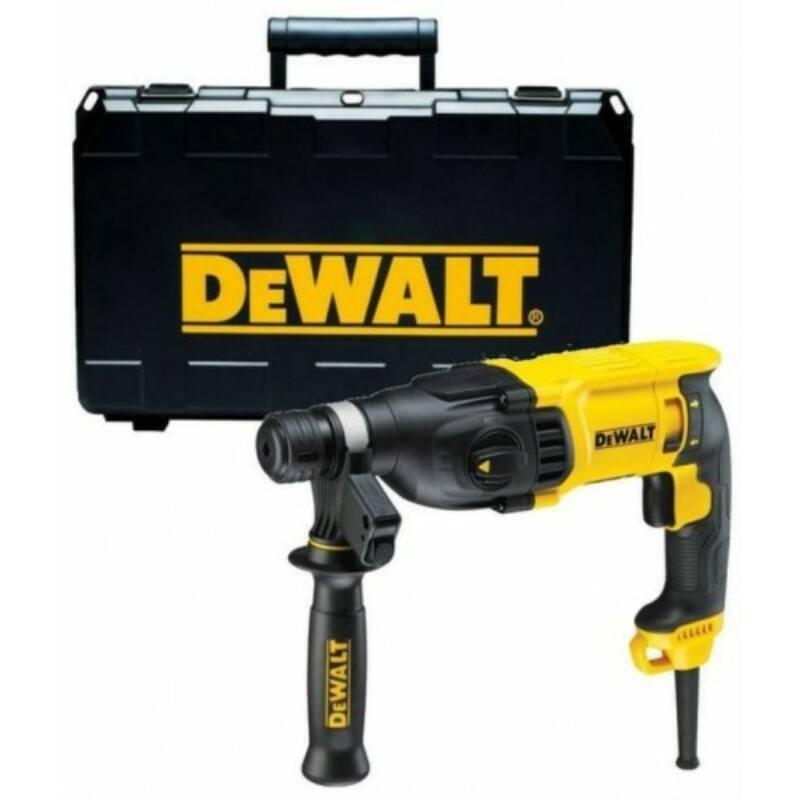 Dewalt SDS-Plus Fúrókalapács, Fúrás-Ütvefúrás-Vésés üzemmód, 26mm, 800W, 2,6J, koffer D25133K-QS