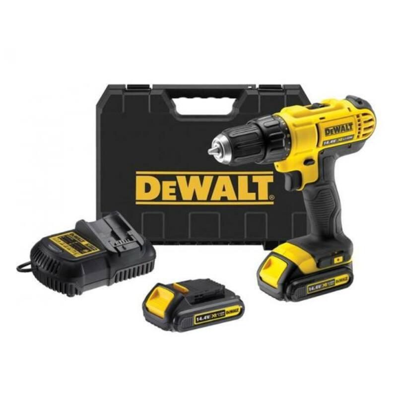 DeWalt 14.4V-os XR Fúró-Csavarozó+2db 1,3Ah akku+Töltő+Koffer DCD731C2