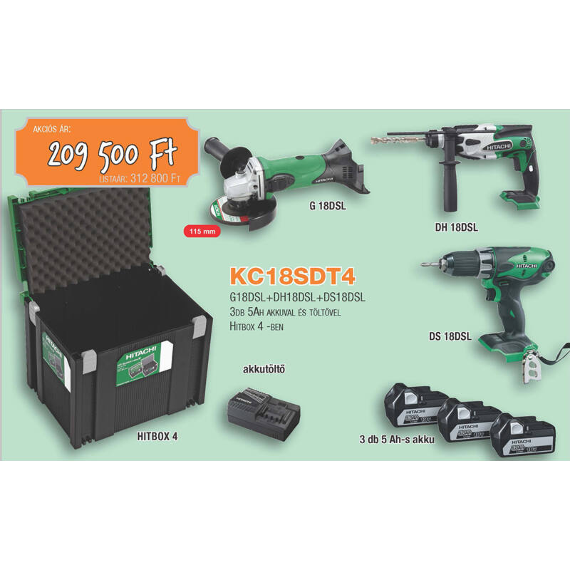 HITACHI akkus csomag KC18SDT4
