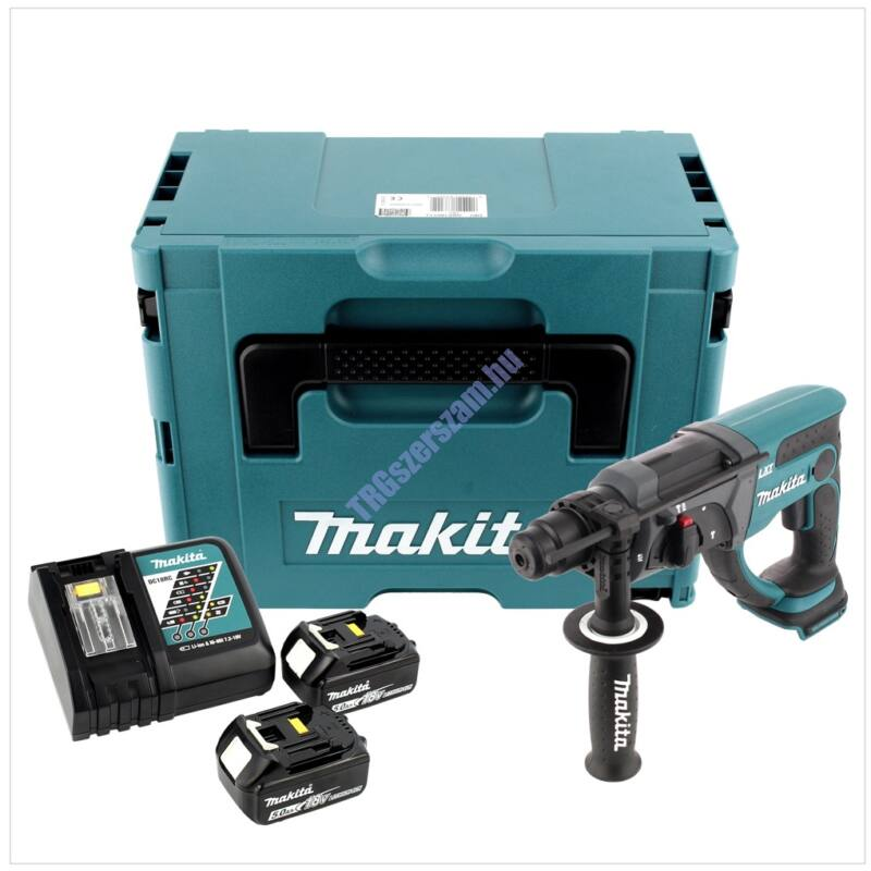 Makita 18V LXT Li-ion 2,0J SDS-Plus fúró-vésőkalapács 2x5,0Ah DHR202RTJ