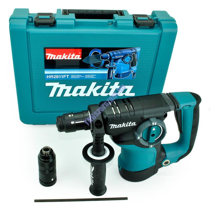Makita HR2811FT SDS-Plus Fúró-vésőkalapács+ Ajándék