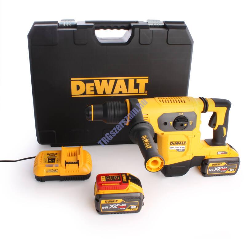 DeWalt Dewalt 54V Flexvolt SDS-Max fúrókalapács, 2x54V/18V/9.0Ah, töltő, koffer