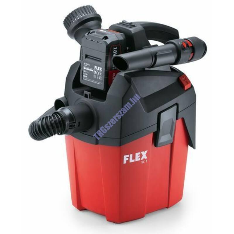 FLEX VC 6 L MC Ipari száraz porszívó akkumulátoros