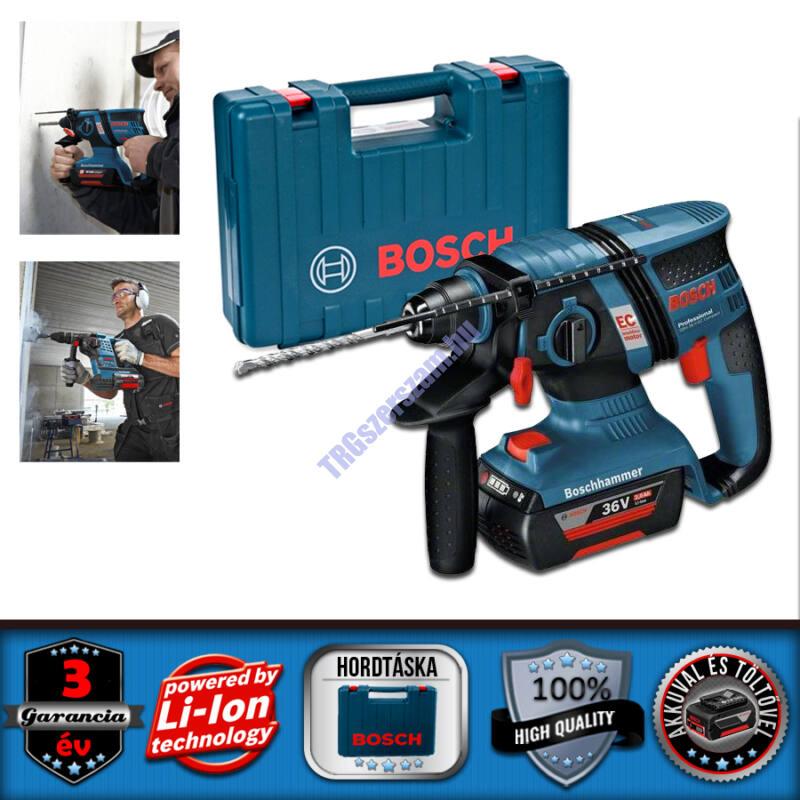 Bosch GBH 36 V-Li Compact akkus fúrókalapács kofferben+2db akku 0611903R02