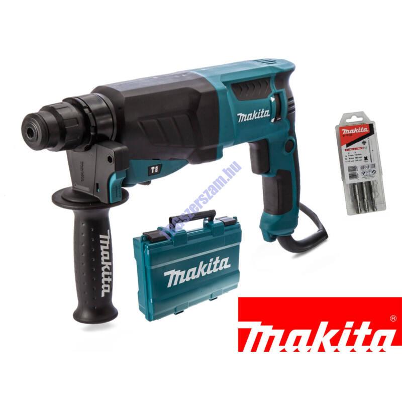 Makita fúró-vésőkalapács 800W 2,4J SDS-Plus gyorstokmány HR2630